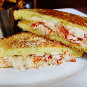 Lobster Grilled Cheese with Local Cheese Tomme des Demoiselles